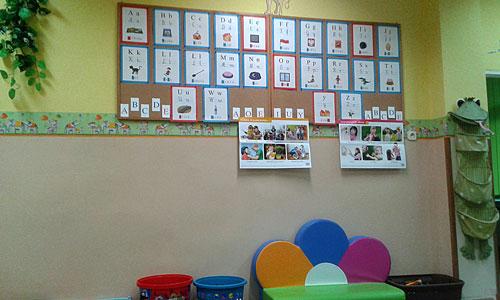 zdjęcie tablicy z pracami w sali 5 latków